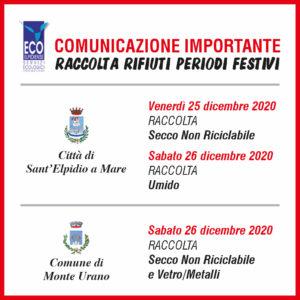 Comunicazione Raccolta Festivi